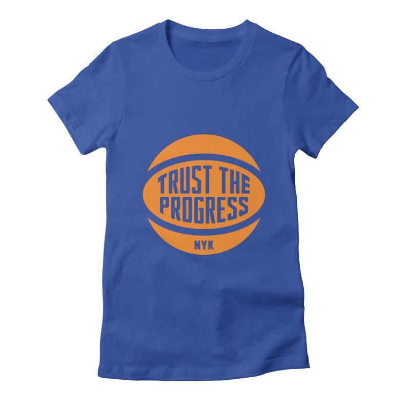 Trust The Progress - Blue Women's Fitted T-Shirt by Sport'n Goods Artist Shop