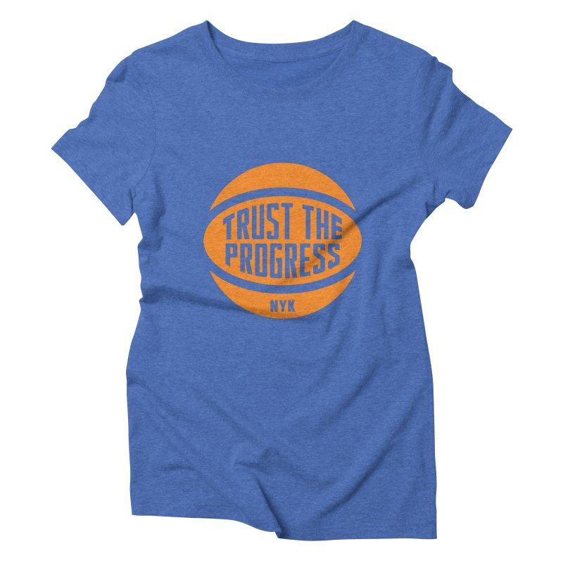 Trust The Progress - Blue Women's Triblend T-shirt by Sport'n Goods Artist Shop