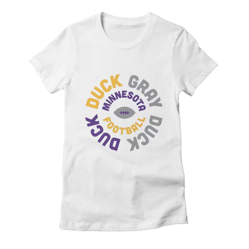 Duck Duck Gray Duck Women's Fitted T-Shirt by Sport'n Goods Artist Shop