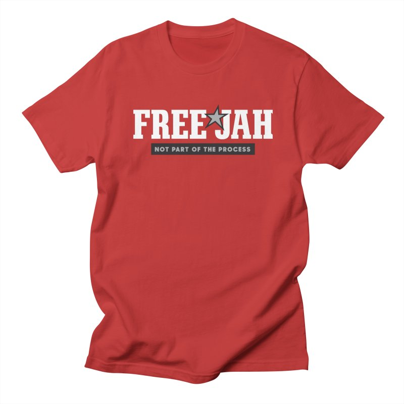 FREE JAH in Men's T-Shirt Red by Sport'n Goods Artist Shop