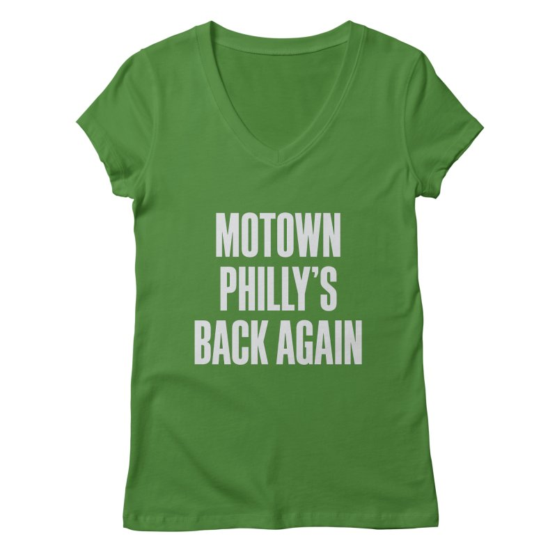 Motown Philly's Back Again Women's V-Neck by Sport'n Goods Artist Shop