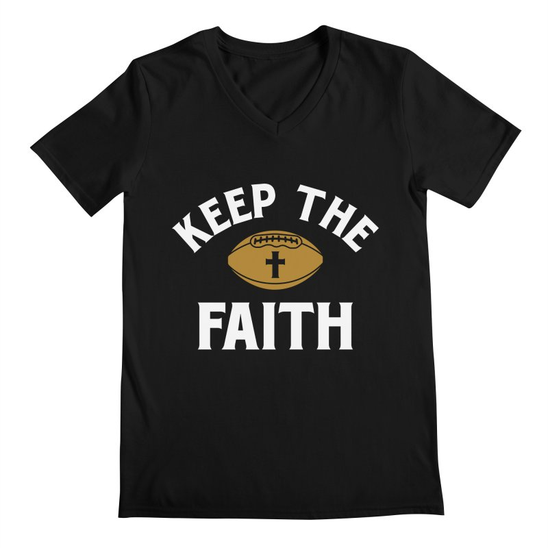 Keep The Faith Men's Regular V-Neck by Sport'n Goods Artist Shop