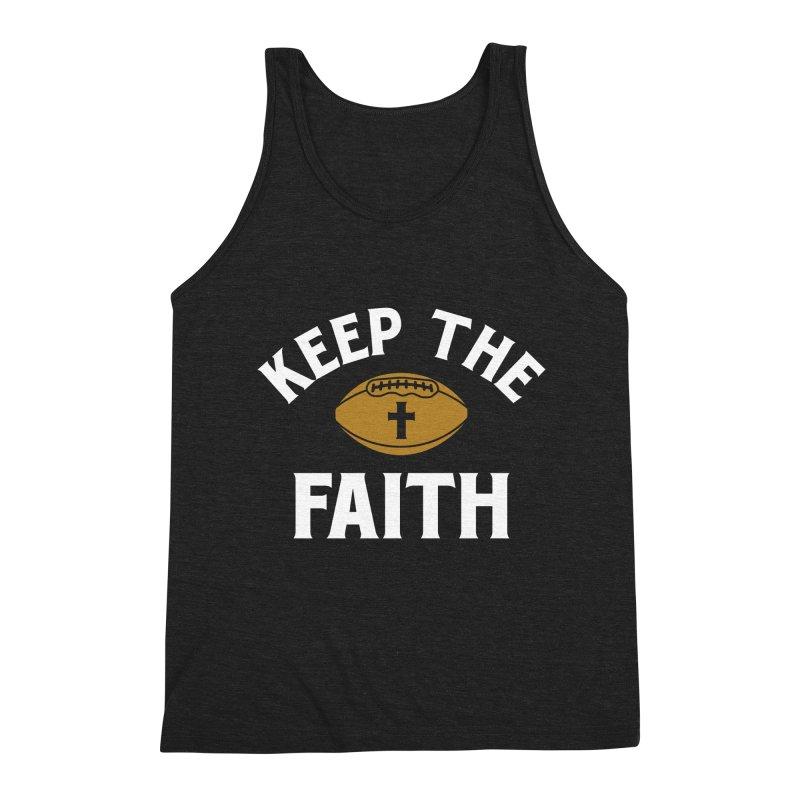 Keep The Faith Men's Triblend Tank by Sport'n Goods Artist Shop