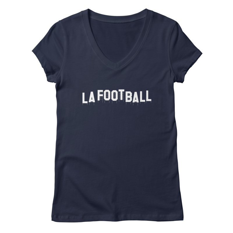 LA Football Women's Regular V-Neck by Sport'n Goods Artist Shop