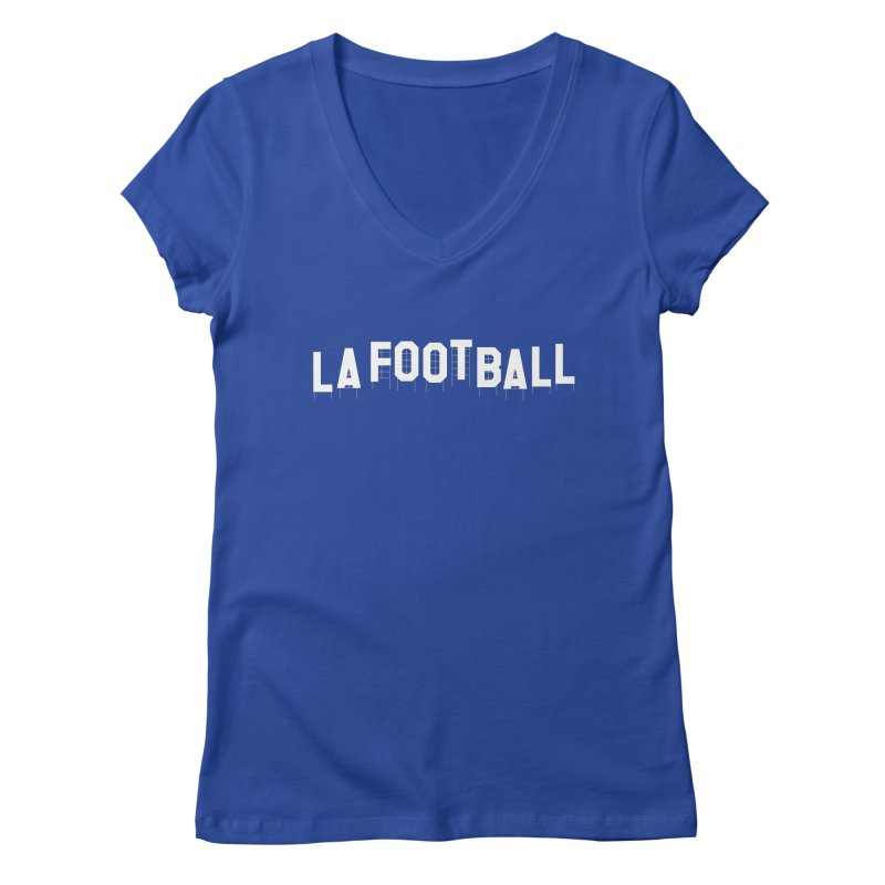 LA Football Women's V-Neck by Sport'n Goods Artist Shop