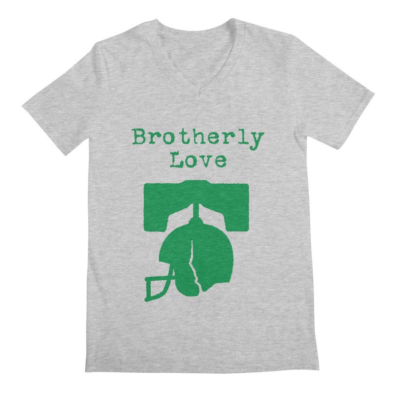 Brotherly Love Men's Regular V-Neck by Sport'n Goods Artist Shop