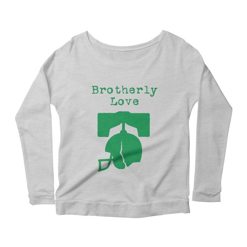Brotherly Love Women's Longsleeve Scoopneck  by Sport'n Goods Artist Shop