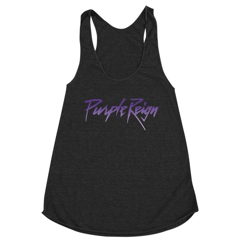 Purple Reign Women's Racerback Triblend Tank by Sport'n Goods Artist Shop