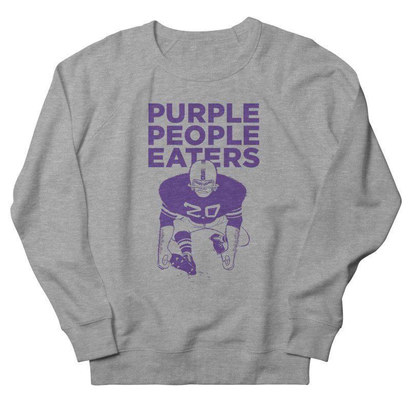 Purple People Eaters 2.0 Men's French Terry Sweatshirt by Sport'n Goods Artist Shop