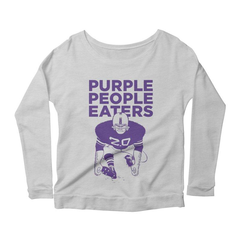Purple People Eaters 2.0 Women's Longsleeve Scoopneck  by Sport'n Goods Artist Shop