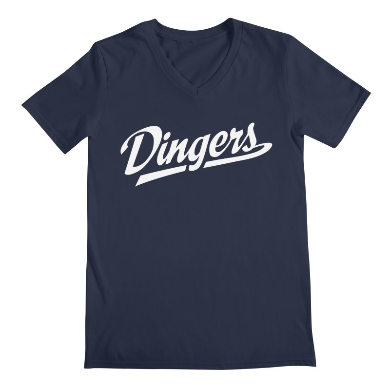 Dingers LA Men's Regular V-Neck by Sport'n Goods Artist Shop
