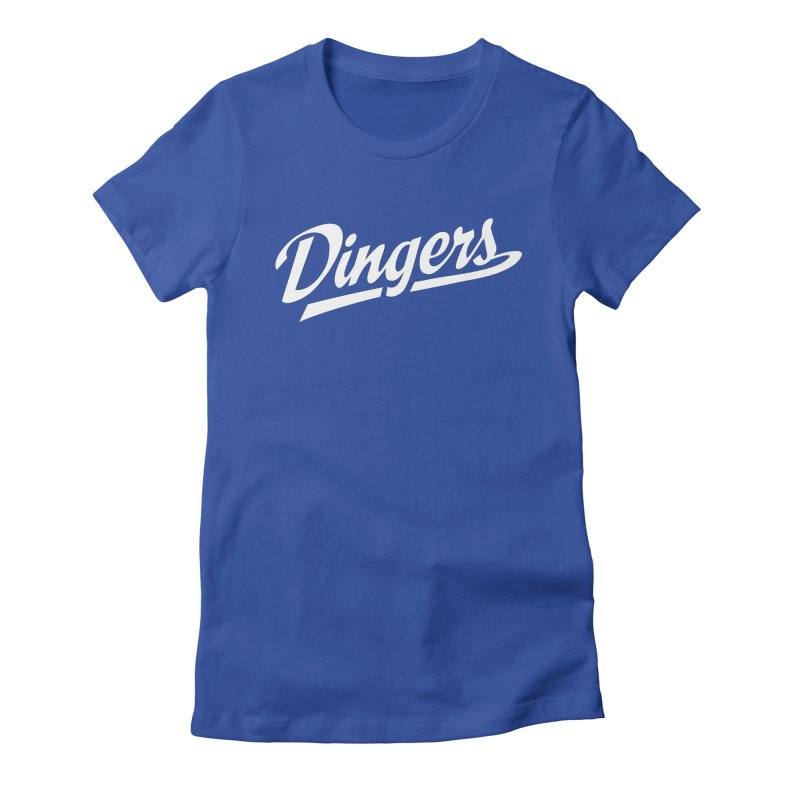 Dingers LA Women's Fitted T-Shirt by Sport'n Goods Artist Shop