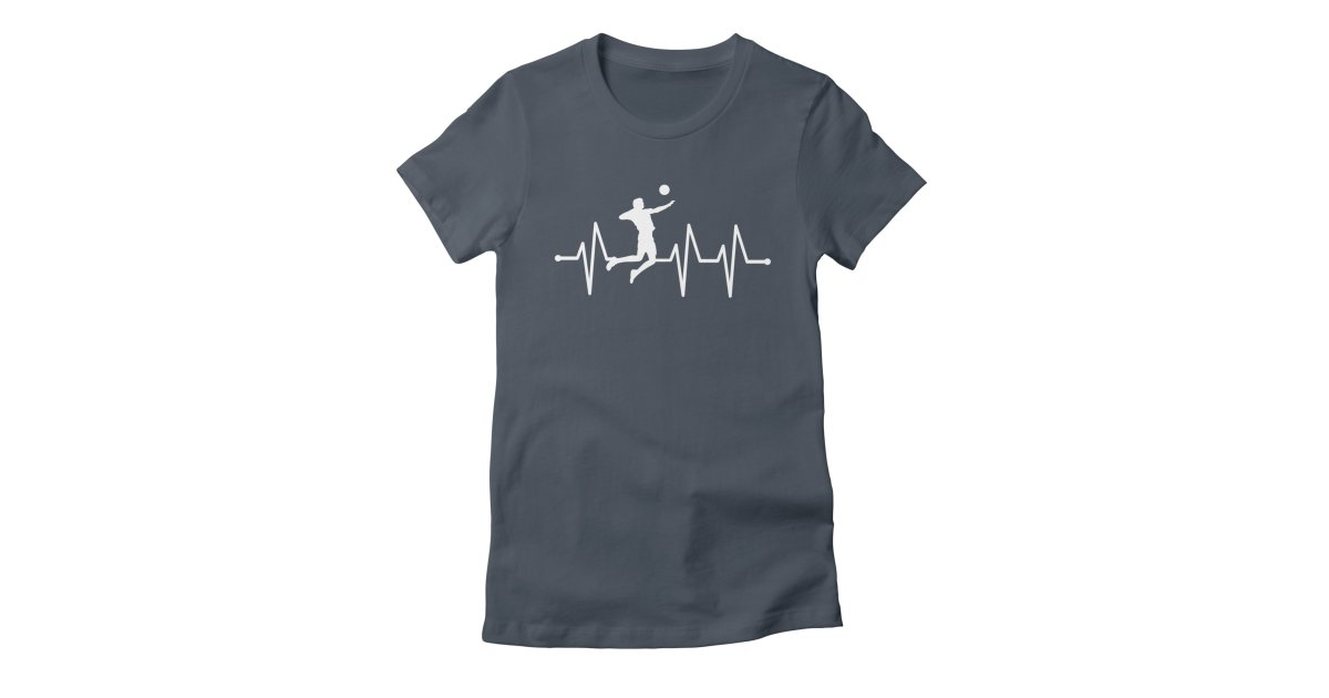 1d70247f430b sports volleyball-heartbeat womens t-shirt