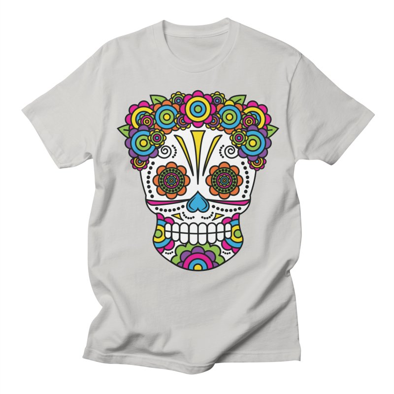 Lady Sugar Skull Women's Unisex T-Shirt by Spot Colors's Artist Shop