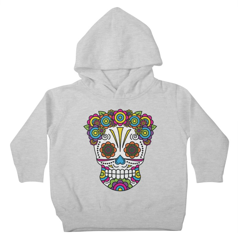 Lady Sugar Skull Kids Toddler Pullover Hoody by Spot Colors's Artist Shop