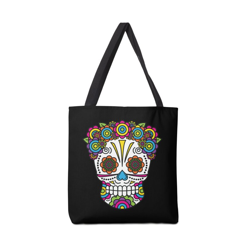 Lady Sugar Skull Accessories Bag by Spot Colors's Artist Shop