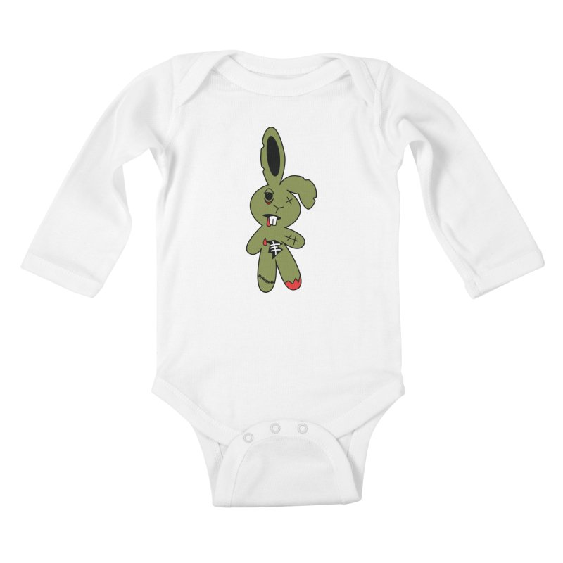 Zombunny Kids Baby Longsleeve Bodysuit by Spot Colors's Artist Shop