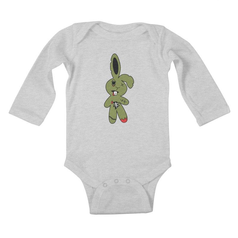 Zombunny Kids Baby Longsleeve Bodysuit by Spot Colors's Artist Shop