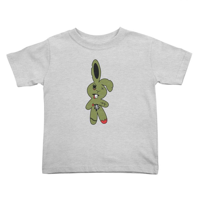 Zombunny Kids Toddler T-Shirt by Spot Colors's Artist Shop