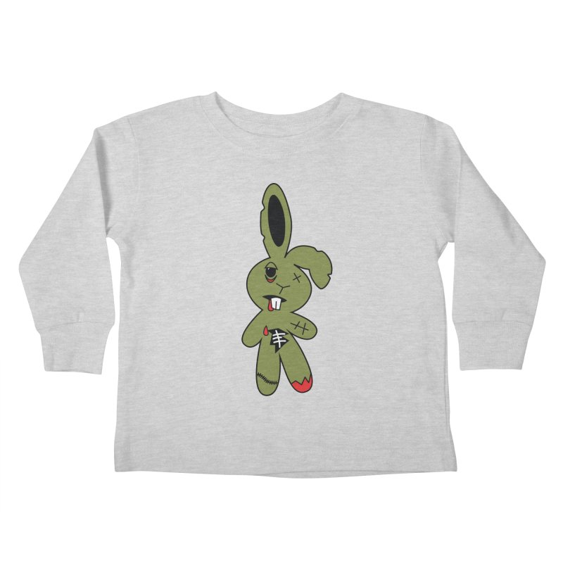 Zombunny Kids Toddler Longsleeve T-Shirt by Spot Colors's Artist Shop