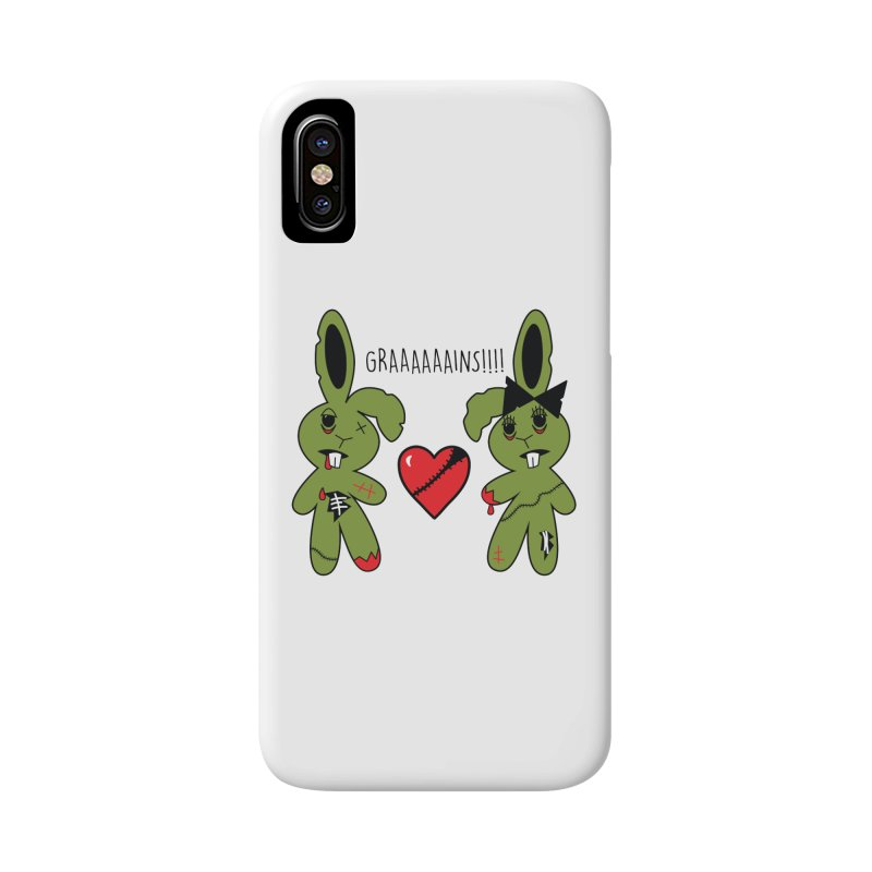Zombunnies Love Graaaaaaains! Accessories Phone Case by Spot Colors's Artist Shop