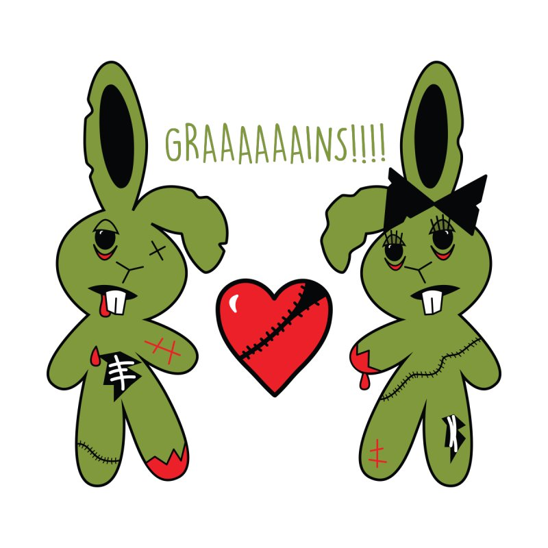 Zombunnies Love Graaaaaaains! by Spot Colors's Artist Shop