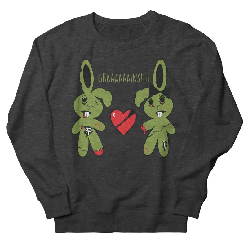 Zombunnies Love Graaaaaaains! Women's Sweatshirt by Spot Colors's Artist Shop