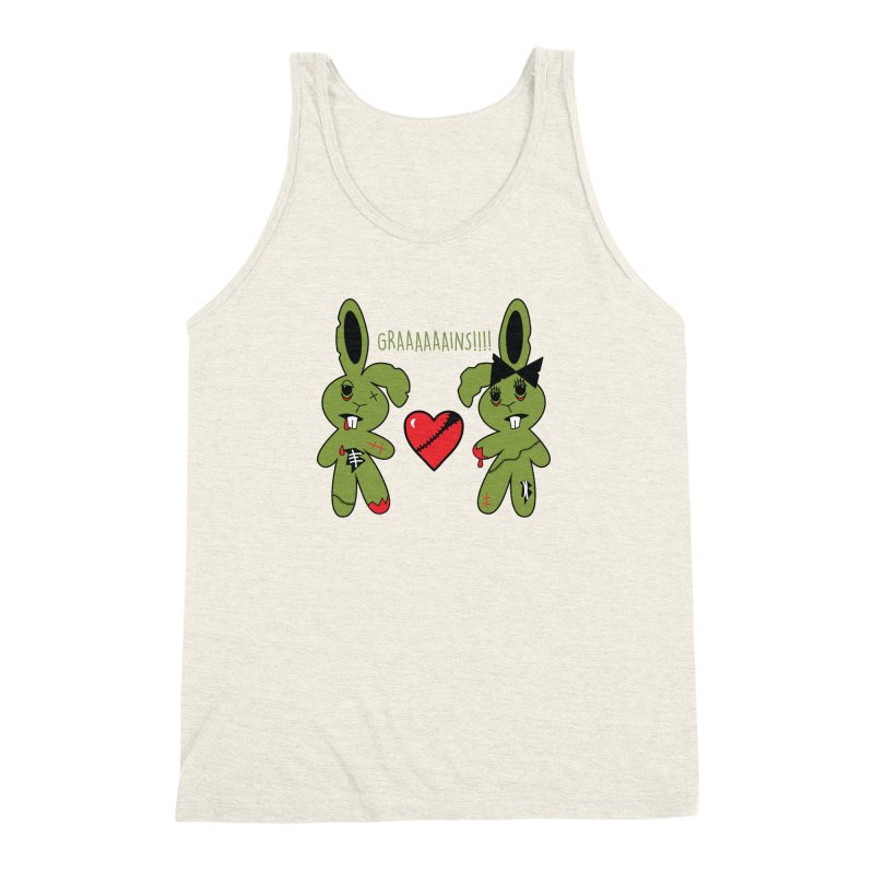 Zombunnies Love Graaaaaaains! Men's Triblend Tank by Spot Colors's Artist Shop