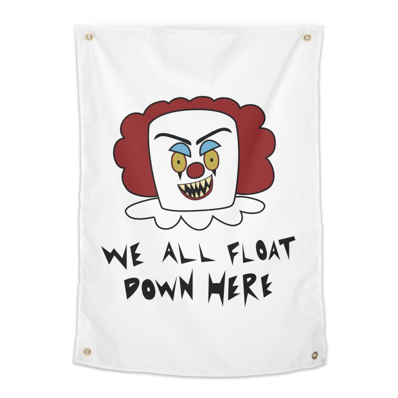 Killer Clowns Float Home Tapestry by Spot Colors's Artist Shop