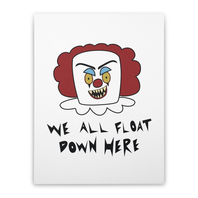 Killer Clowns Float Home Stretched Canvas by Spot Colors's Artist Shop