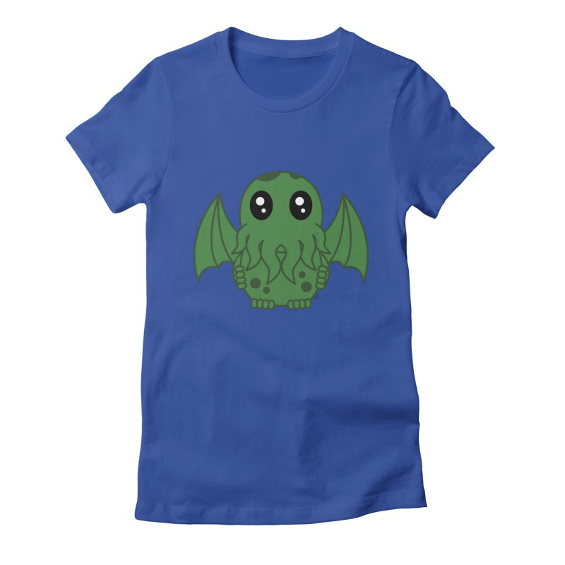 Cutie Cthulhu Women's Fitted T-Shirt by Spot Colors's Artist Shop