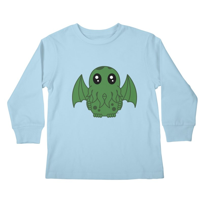 Cutie Cthulhu Kids Longsleeve T-Shirt by Spot Colors's Artist Shop