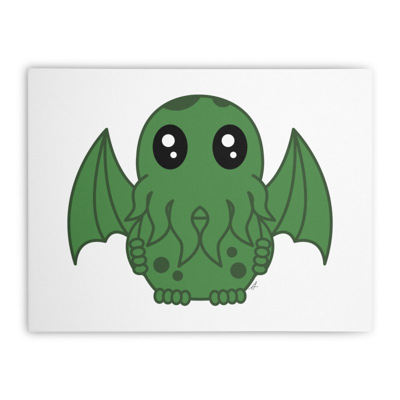 Cutie Cthulhu Home Stretched Canvas by Spot Colors's Artist Shop