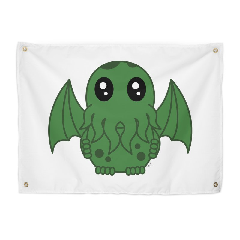Cutie Cthulhu Home Tapestry by Spot Colors's Artist Shop