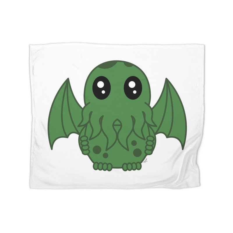 Cutie Cthulhu Home Blanket by Spot Colors's Artist Shop