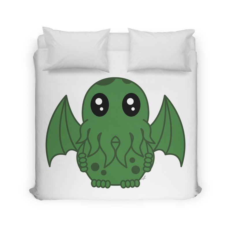 Cutie Cthulhu Home Duvet by Spot Colors's Artist Shop