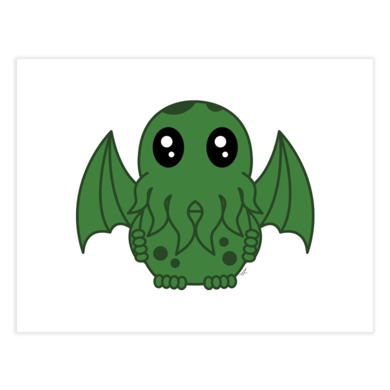 Cutie Cthulhu Home Fine Art Print by Spot Colors's Artist Shop
