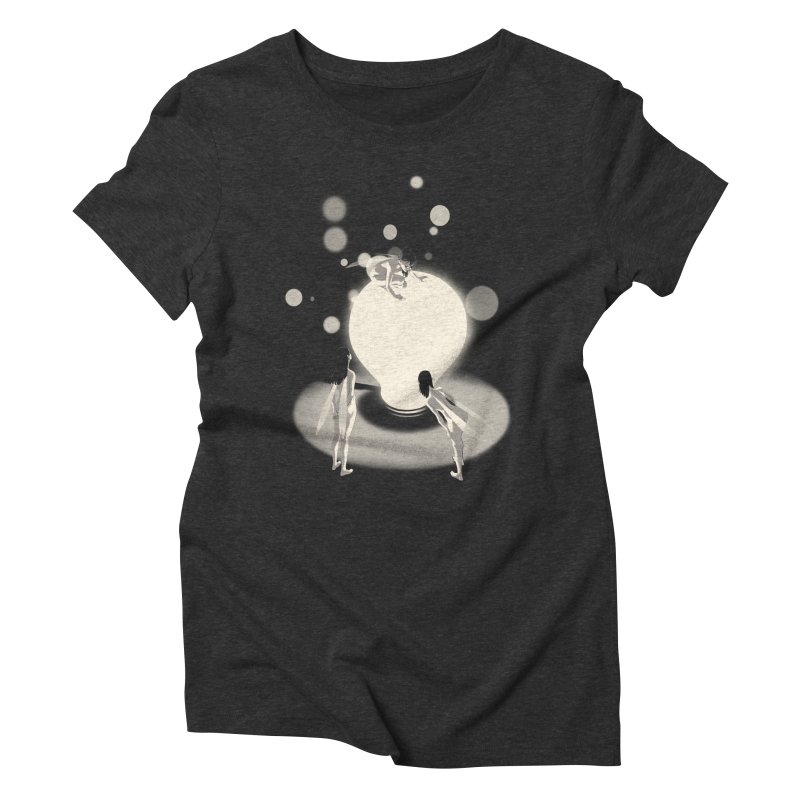 The Curious One Women's Triblend T-Shirt by SPYKEEE's Artist Shop