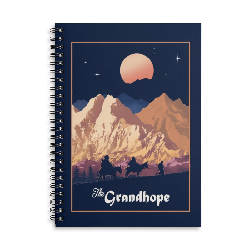 The Grandhope Accessories Lined Spiral Notebook by SPYKEEE's Artist Shop