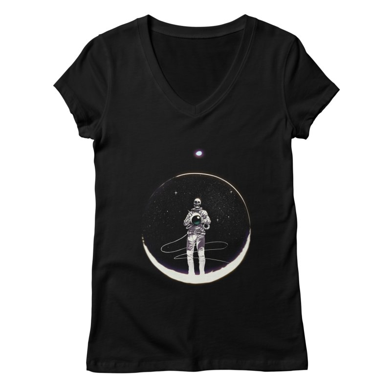 SPACE HEKOG Women's V-Neck by SPYKEEE's Artist Shop