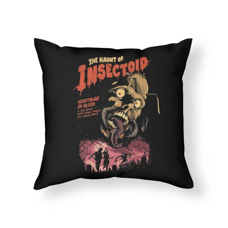 INSECTOID Home Throw Pillow by SPYKEEE's Artist Shop