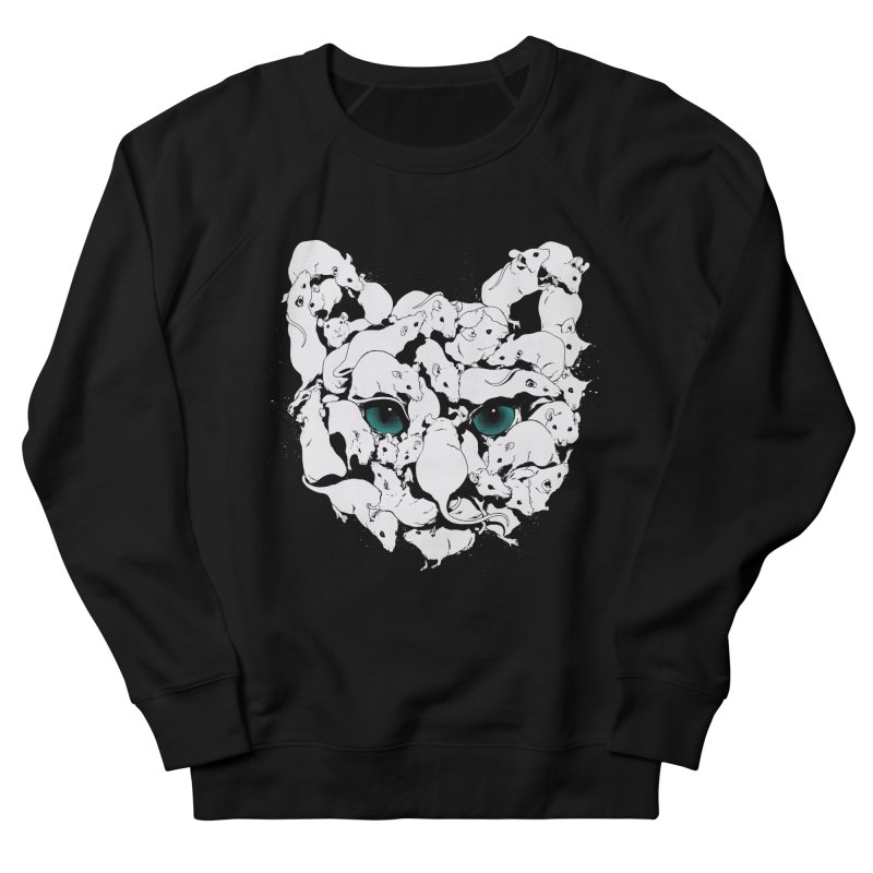 PUSSYRAT Men's French Terry Sweatshirt by SPYKEEE's Artist Shop