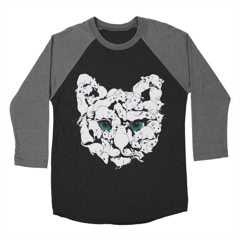 PUSSYRAT Men's Baseball Triblend Longsleeve T-Shirt by SPYKEEE's Artist Shop