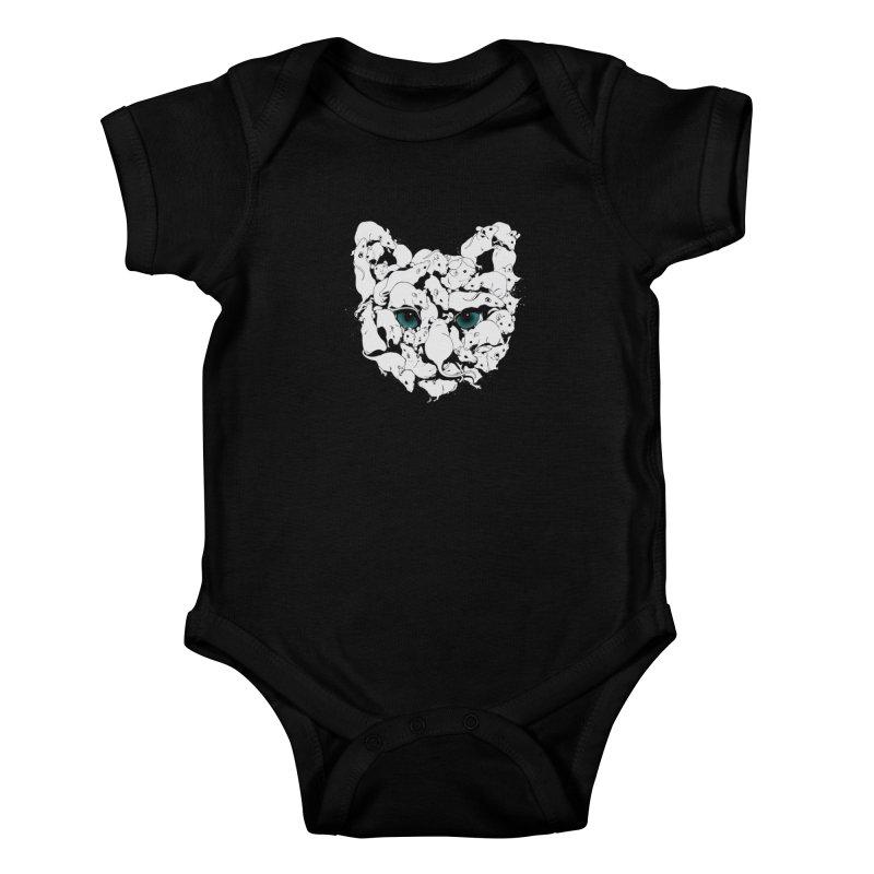PUSSYRAT Kids Baby Bodysuit by SPYKEEE's Artist Shop