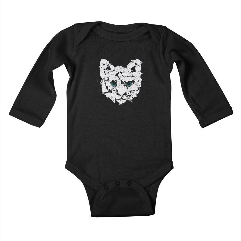 PUSSYRAT Kids Baby Longsleeve Bodysuit by SPYKEEE's Artist Shop