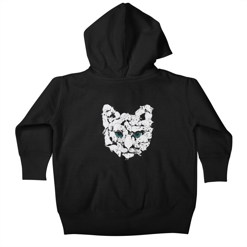 PUSSYRAT Kids Baby Zip-Up Hoody by SPYKEEE's Artist Shop