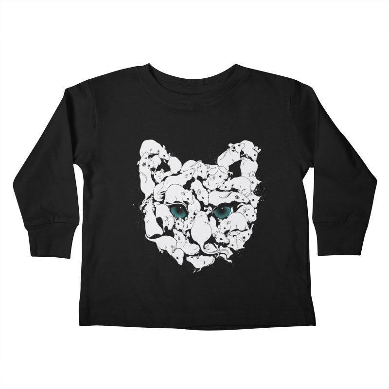 PUSSYRAT Kids Toddler Longsleeve T-Shirt by SPYKEEE's Artist Shop