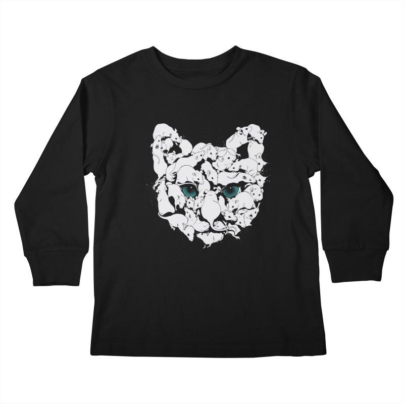 PUSSYRAT Kids Longsleeve T-Shirt by SPYKEEE's Artist Shop