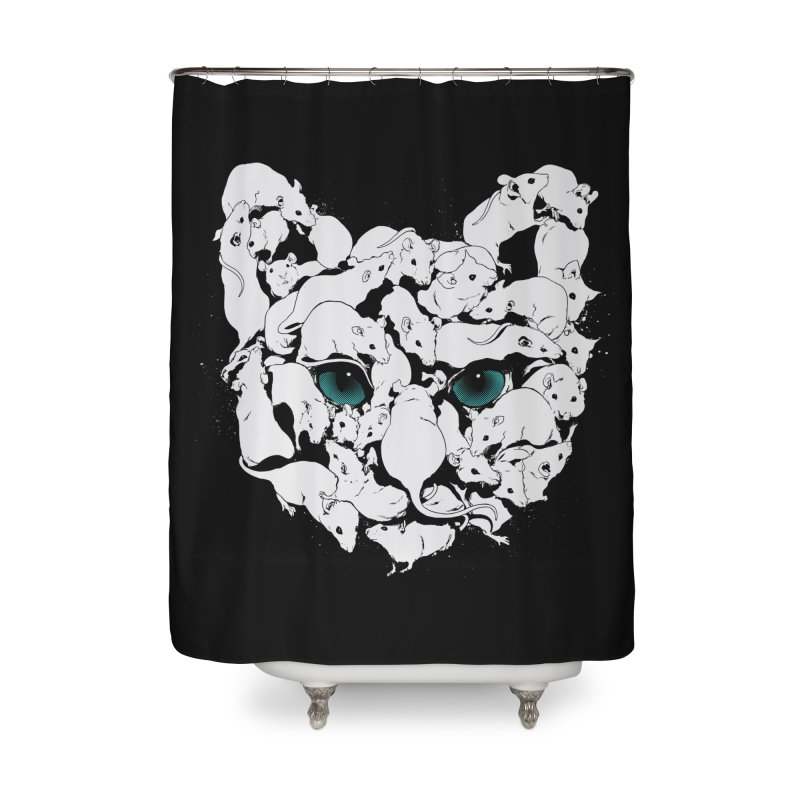PUSSYRAT Home Shower Curtain by SPYKEEE's Artist Shop