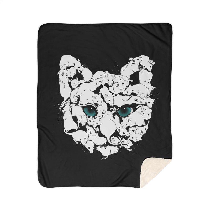 PUSSYRAT Home Sherpa Blanket Blanket by SPYKEEE's Artist Shop